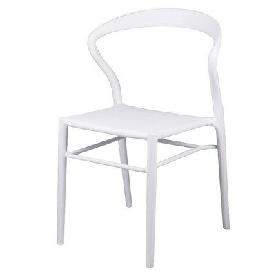 Utopia Dining Chair Color: White