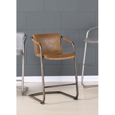 Weinrauch 30 Bar Stool Upholstery: Antique Cigar Brown