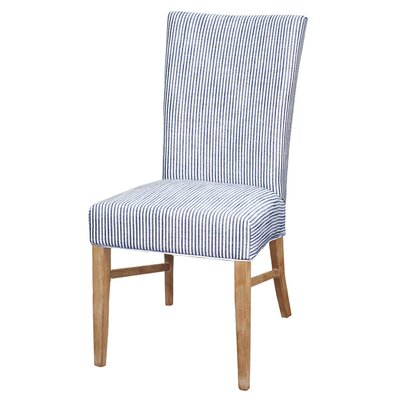 Miramonte Fabric Chair NWO Legs, Blue Stripes (Set of 2)