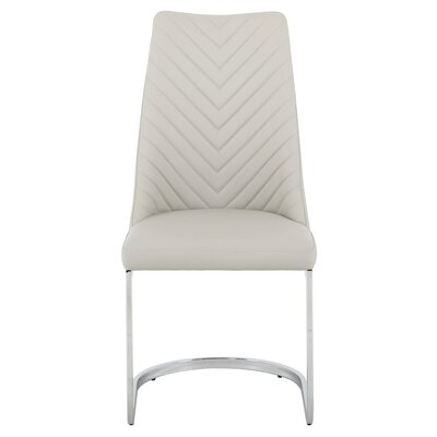 Rathjen Parsons Upholstered Dining Chair Frame Color: Gray, Upholstery Color: Gray