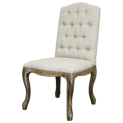 York Fabric Side Chair Color: Rice