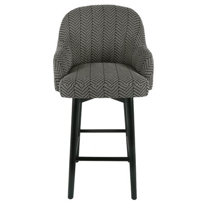 Wellfleet Fabric Swivel Bar Stool Size: 41 H x 23 W x 22.5 D