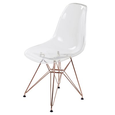 Theophania Modern Rose Transparent Crystal Dining Chair