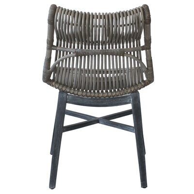 Parksley Rattan Solid Wood Dining Chair