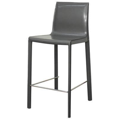 Gervin 25.5 Bar Stool Upholstery: Anthracite