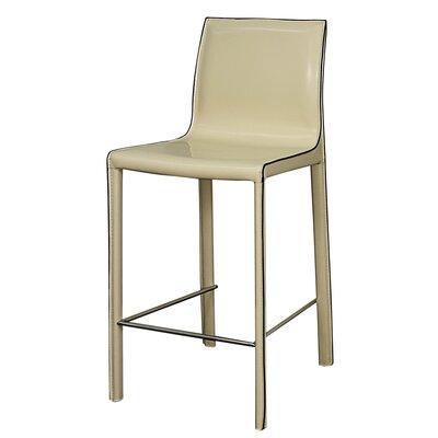 Gervin 25.5 Bar Stool Upholstery: Vanilla