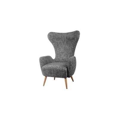 Trevor Fabric Wing back Chair Upholstery: Gray
