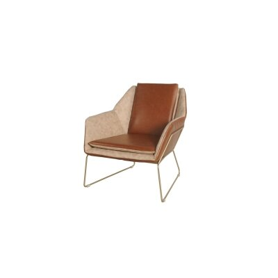 Morgan Armchair Upholstery: Beige / Brown