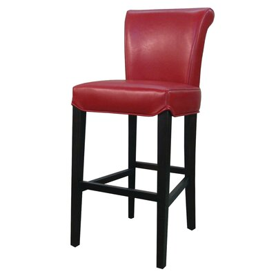 Bentley 26 Bar Stool Upholstery: Red