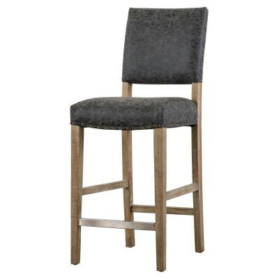Welling 30 Bar Stool Upholstery: Nubuck Charcoal