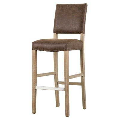 Welling 26 Bar Stool Upholstery: Nubuck Chocolate