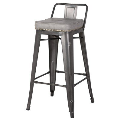 Capucine 31 Bar Stool Upholstery: Vintage Mist Gray