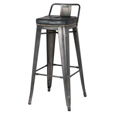 Capucine 27 Bar Stool Upholstery: Vintage Black