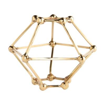 Polyhedron Tablescape Sculpture Size: 4 H x 5 W x 5 D