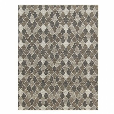 Jaylee Decorative Wool Gray Area Rug