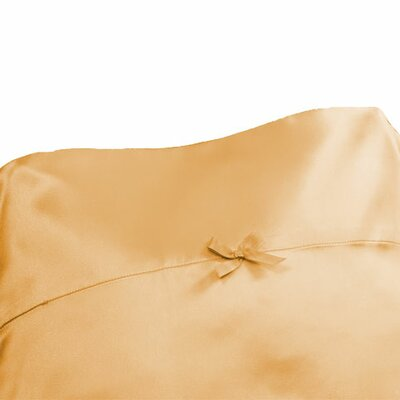 Citadel Satin Pillowcase Size: King, Color: Corked Champagne