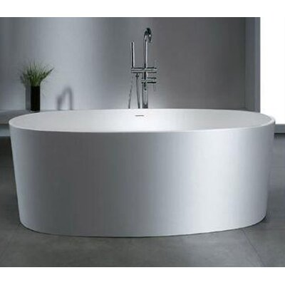 "Ailsa 61.37"" x 31.12"" Artificial Stone Freestanding Bathtub"