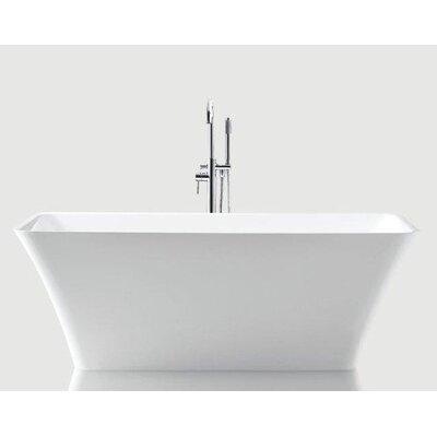 Arhus 66.5 x 29.38 Rectangle Acrylic Freestanding Bathtub