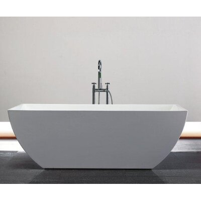 Beryl 66.75 x 29.38 Rectangle Acrylic Freestanding Bathtub
