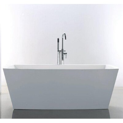 Heir 67 x 31.38 Rectangle Acrylic Freestanding Bathtub