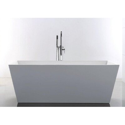Baron 66.88 x 31.5 Rectangle Acrylic Freestanding Bathtub