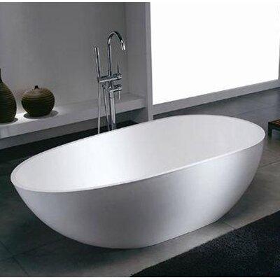 Dini 66.8 x 33.37 Artificial Stone Freestanding Bathtub