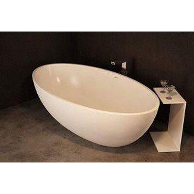 Quinn 66.5 x 36.37 Artificial Stone Freestanding Bathtub