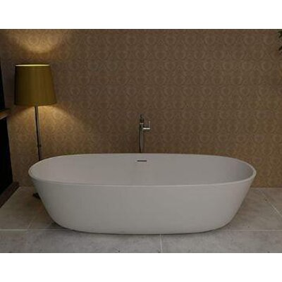 Norn 70.87 x 31.5 Artificial Stone Freestanding Bathtub