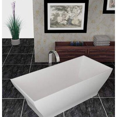 Gala 74.37 x 31.5 Artificial Stone Freestanding Bathtub