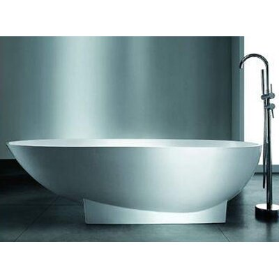 Valira 70.87 x 35.5 Artificial Stone Freestanding Bathtub