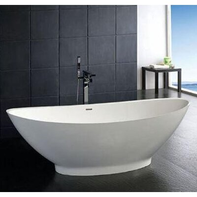 Clare Artificial Stone 74.4 x 33.5 Freestanding Bathtub