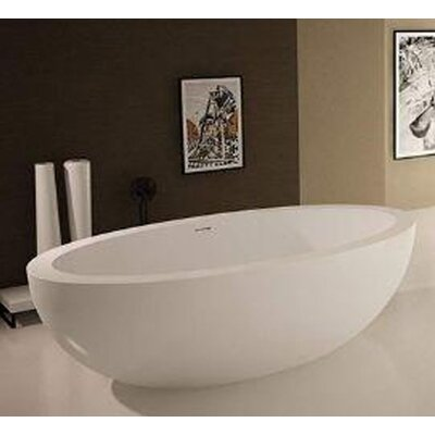 Sovereign 75.5 x 40.5 Artificial Stone Freestanding Bathtub
