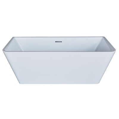Azurel 66.88 x 31.38 Rectangle Acrylic Freestanding Bathtub