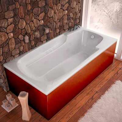 Anguilla Dream Suite 71.25 x 35.5 Rectangular Air & Whirlpool Jetted Bathtub Drain Location: Left