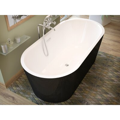 Little Key 63 x 31.37 Freestanding One Piece Soaking Bathtub with Center Drain