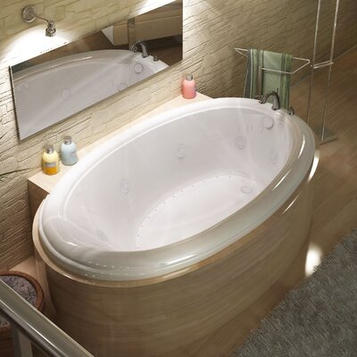 Martinique Dream Suite 70 x 42 Oval Air & Whirlpool Jetted Bathtub Drain Location: Right
