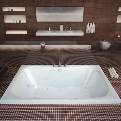 Dominica Dream Suite 58 x 40.5 Rectangular Air & Whirlpool Jetted Bathtub