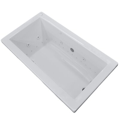 Guadalupe Dream Suite 59.25 x 36 Rectangular Air & Whirlpool Jetted Bathtub Drain Location: Right