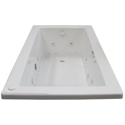 Guadalupe Dream Suite 71.63 x 32.5 Rectangular Air & Whirlpool Jetted Bathtub Drain Location: Right