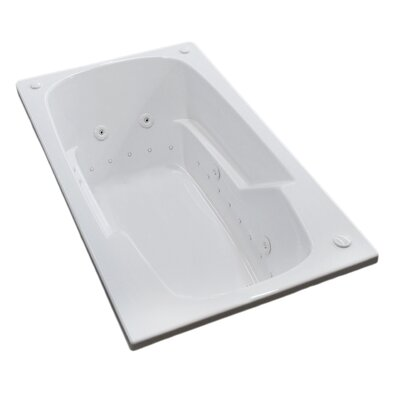 Anguilla 58.5 x 35.5 Rectangular Air & Whirlpool Jetted Bathtub with Drain Drain Location: Right