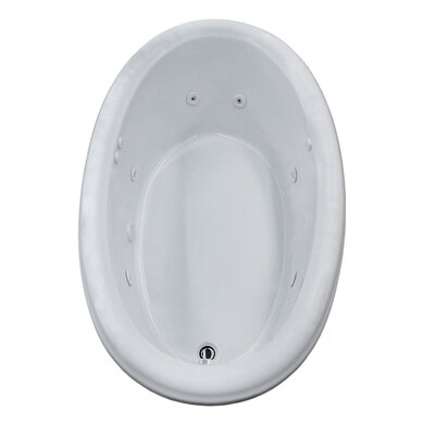 Martinique 60 x 36 Oval Whirlpool Jetted Bathtub with Drain Drain Location: Left