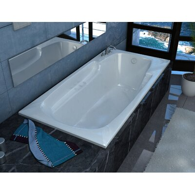 Anguilla 59 x 31.75 Rectangular Air Jetted Bathtub with Drain Drain Location: Left