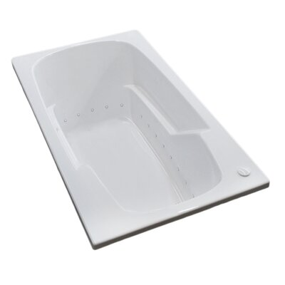 Anguilla 58.5 x 35.5 Rectangular Air Jetted Bathtub with Drain Drain Location: Right