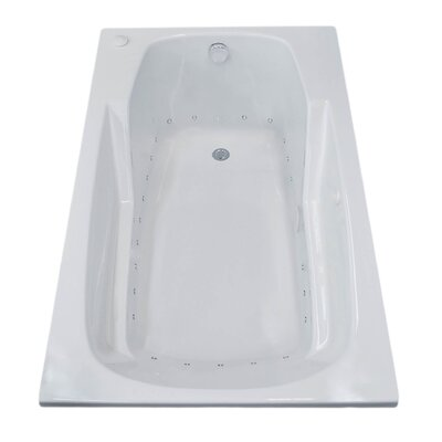 Anguilla 59 x 31.75 Rectangular Air Jetted Bathtub with Drain Drain Location: Right
