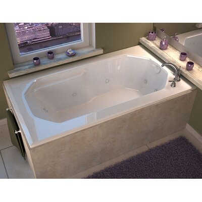 Montserrat 59.75 x 35.5 Rectangular Whirlpool Jetted Bathtub with Drain Drain Location: Right