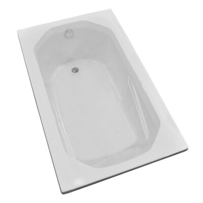 Montserrat 59.75 x 35.5 Rectangular Soaking Bathtub with Reversible Drain