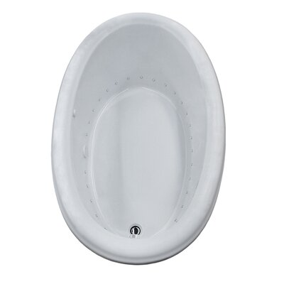 Martinique 70 x 42 Oval Air Jetted Bathtub with Drain Drain Location: Right