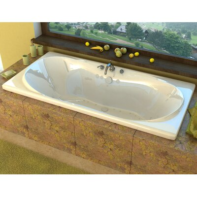 Cayman 71.37 x 41.5 Rectangular Air/Whirlpool Jetted Bathtub with Center Drain