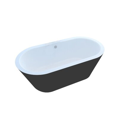 Little Key 70 x 31.25 Freestanding One Piece Soaking Bathtub with Center Drain