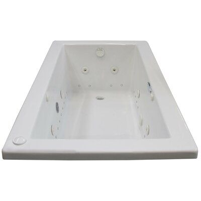 Guadalupe Dream Suite 60 x 30 Rectangular Air & Whirlpool Jetted Bathtub Drain Location: Right